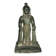 Antique Southern Chinese Bronze Deity Figure