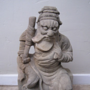 Antique Chinese Carved Stone Sage