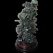 Chinese Honan Jade Bird and Floral Group