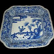 Antique Japanese Arita Porcelain Square Plate