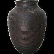 Antique Japanese Bronze Vase with Birds