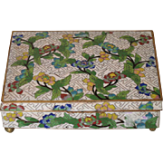 Early 20th C. Chinese Cloisonné Floral Box