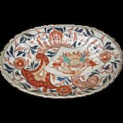 Antique Japanese Imari Low Oval Bowl