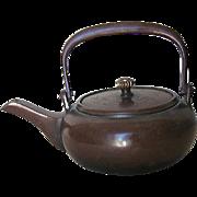 Early Showa Japanese Bronze Tea Pot