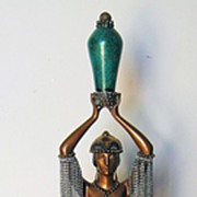 "Erte' Bronze Sculpture ""Emerald Vase"""