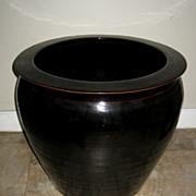 Chinese Black Porcelain Jardinière