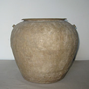 Chinese Pottery Round Jar