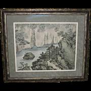 Beautiful Japanese Landscape Painting by Hoshin Takei