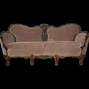 Early 20th Century Elegant Sofa in Light-Brown Fabric