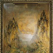 Chinese Superb Large Mountainous Landscape Painting