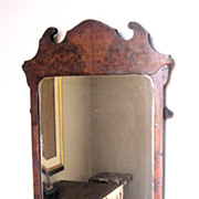 SOLD Antique George II Walnut Burl Mirror