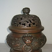 Chinese Bronze Censor