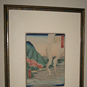 "Japanese woodblock print by Hiroshige II ""One of 68 Country Scene"""