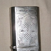 Chinese 19th C. Silver Cigarette Case
