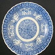 Japanese Arita Transferware Porcelain Plate Circa 1900