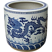 Superb Chinese Porcelain Blue and White Dragon Planter