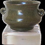 SOLD Antique Chinese Tea Dust Glaze Brushwasher