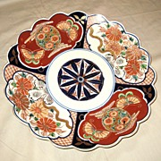 Japanese 19th C. Imari Scalloped Rim Charger
