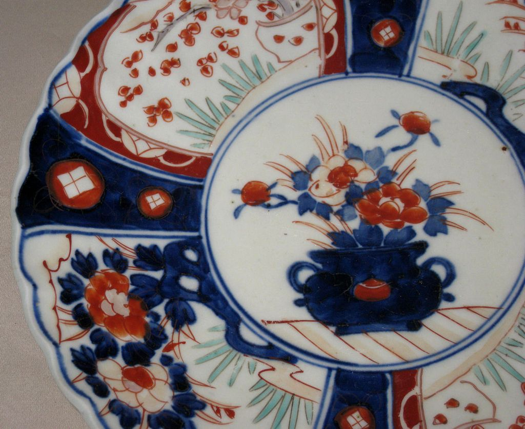 Japanese Imari Porcelain Plate From Dynastycollections On