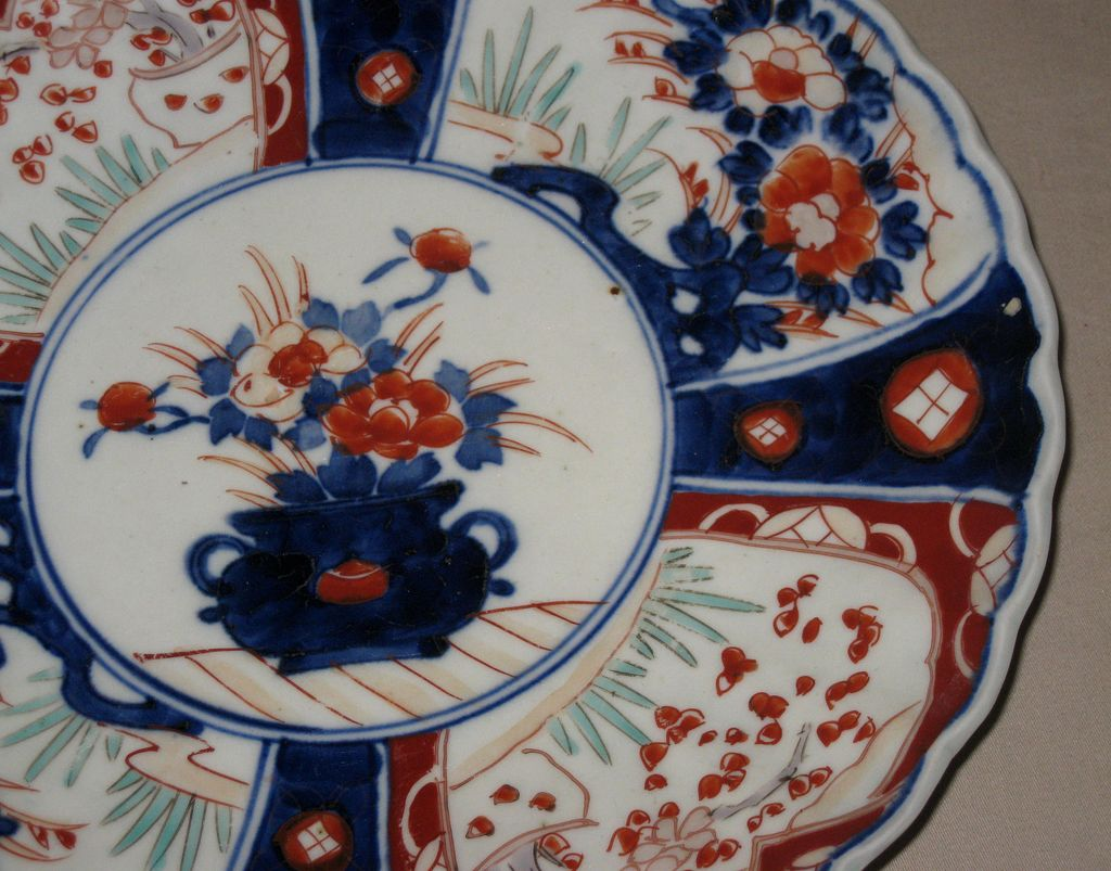Japanese Imari Porcelain Plate From Dynastycollections On Ruby Lane