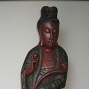 Chinese Carved Standing Wood Guanyin