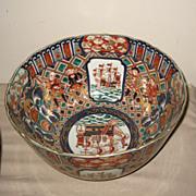 Set of Two Large Japanese Imari Bowls