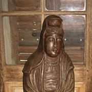 SALE PENDING Late Meiji Japanese Pottery Kannon