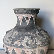 Chinese Han Dynasty Painted Pottery Vase