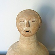 Chinese Neolithic Pottery Jar with a Human Head Spout