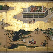 "Japanese Six-Panel Screen of ""The Tales of Genji"""