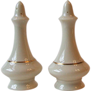 Lenox Regency Collection Salt and Pepper Shakers Gold Trim Ivory China