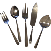 Gense Sweden Facette 5 Serving Pieces 18-8 Stainless Steel Flatware