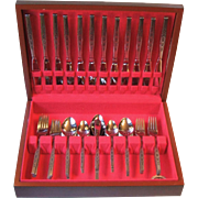 Oneida Rogers Premier Spanada 63 Piece Set Service for 12 Unused in Chest Vintage Stainless St