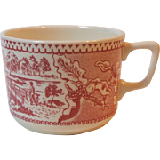Royal China USA Memory Lane Large Coffee Hot Chocolate Mug 2.75 Inch Red Pink Dinnerware