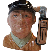 Royal Doulton England D6756 The Golfer Small Toby Character Jug 4.5 Inch