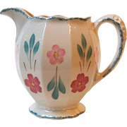 Southern Potteries Blue Ridge China Grace Jug #1 Pitcher Pink and Red Floral