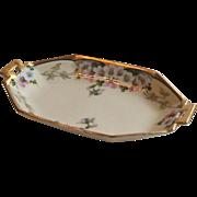 T&V Limoges France Hand Painted Porcelain Dish Walter Wilson, Signed
