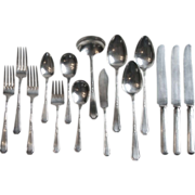 15 Pieces 1923 Rogers Mayfair Silverplate Flatware Including 7 Serving Pieces International Si