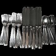 30 Pc Set International Insico Nassau Stainless Steel Flatware Mono G Six 4 Piece Place Settin