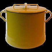 SOLD Vintage Dansk Kobenstyle Yellow 7 Qt Stock Pot Enamel on Metal France