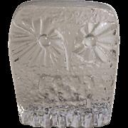 Blenko DAS Owl Paperweight 3.25 Inch Mid Century Modern Clear Art Glass Don Shepherd ...