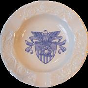 Vintage Wedgwood China US West Point Military Academy Ashtray Blue USMA Seal