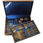 SALE GES Gustav Ebel Germany 120 Silver Plate Flatware Set in Chest Service for 12 ...