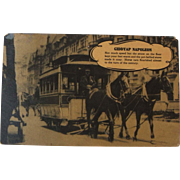 1935 Signed Julius Kessler Personal Correspondence Whiskey Distillery PC Postcard Horse Car
