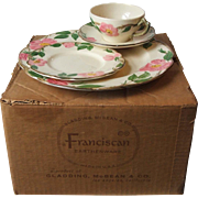 Franciscan China Desert Rose 16 Piece Set Service for 4 New in Original Box Gladding McBean US