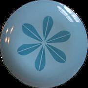 SALE Cathrineholm Norway Blue on Blue Lotus Enamel Dinner Plate 10 1/4 Inch Mid ...