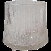 Iittala Finland Ultima Thule Footed Glass Ice Bucket Bowl 5 Inch Tall