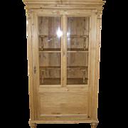 Pine Display Cabinet, Austrian, ca 19th Century