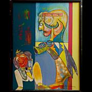 Original on Canvas, Musician by Royi Akavia, Israeli, 1980s