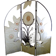 REDUCED Art Deco Style Screen, Mexican, ca 1980s